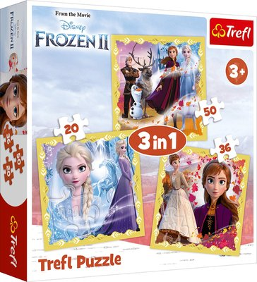 Disney Frozen 3 in 1 puzzel