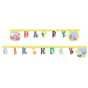 Peppa Pig Happy Birthday slinger