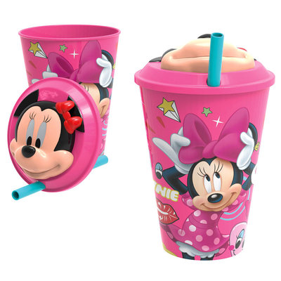 Minnie Mouse rietjes beker