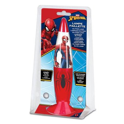 Spiderman glitter lavalamp