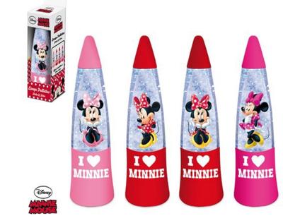 Minnie Mouse glitter lava lamp