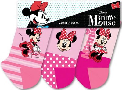 Minnie Mouse 3 pack sokken