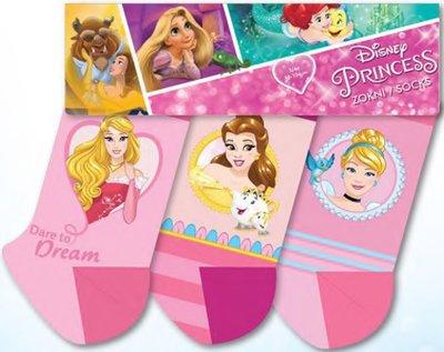 Disney Princess 3 pack sokken