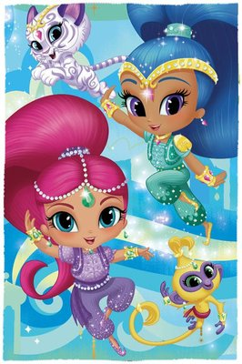 Shimmer en Shine fleece deken